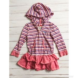 Puma Toddler Striped Tunic Top with Ruffle Bottom